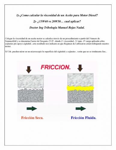Documento como calcular la viscosidad de un aceite para for Viscosidad del aceite de motor