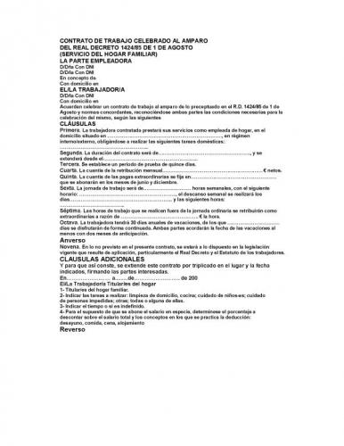 Documento contrato de trabajo celebrado al amparo grupos for Contrato documento