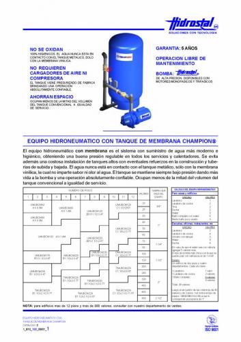 Documento equipo hidroneumatico for Equipo hidroneumatico