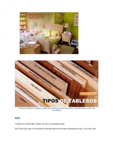 Documento materiales empleados para elaboracion de muebles for Fabricacion de muebles mdf