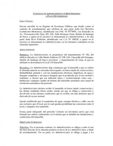Formato de renta de inmueble for Contrato de arrendamiento de oficina