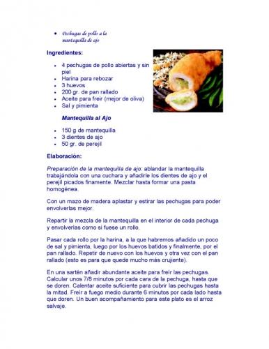 Documento Recetas Para Cocinar Pechugas De Pollo Grupos