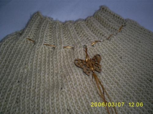 Imagen Acercamiebto de la capa tejida en agujas, - grupos.