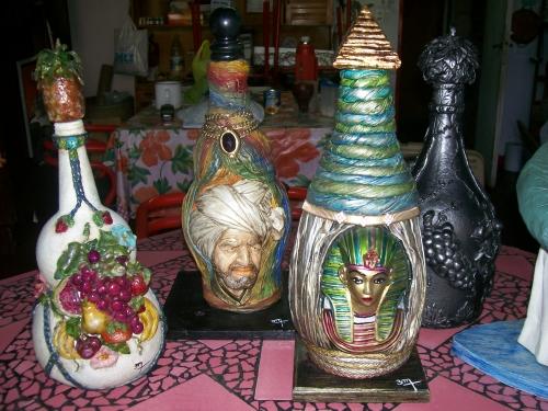 Manualidades botellas decoradas imagui - Botellas decoradas manualidades ...