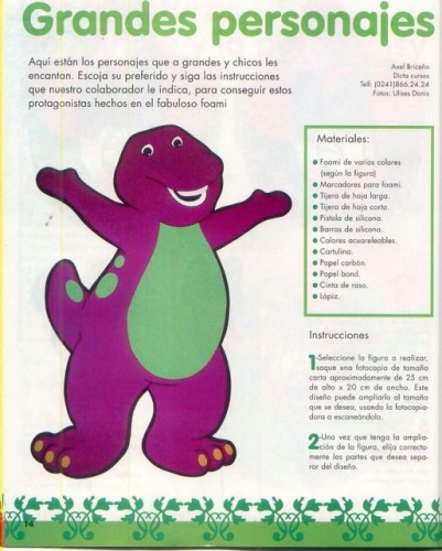 video barney dinosaurio: