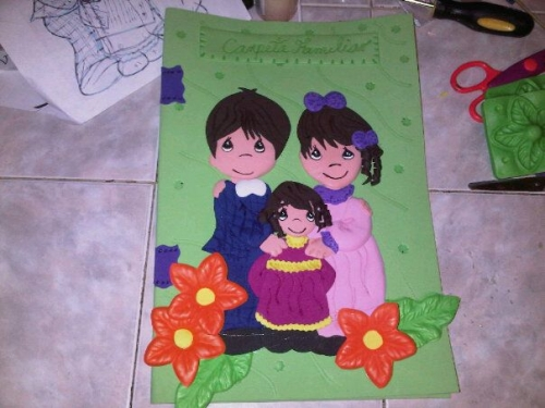 Carpetas decoradas en foami - Imagui