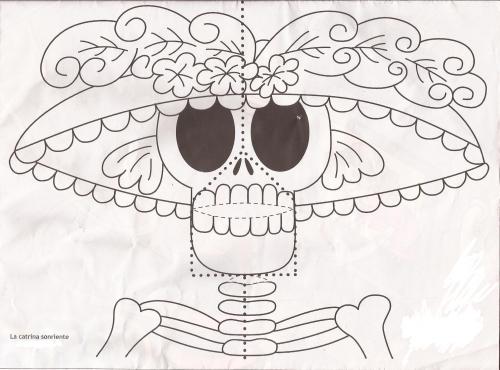Catrinas de para dibujar facil - Imagui