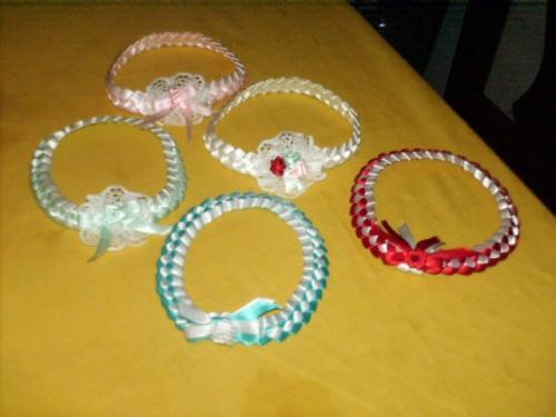 Cintillos tejidos en cinta para bebés - Imagui