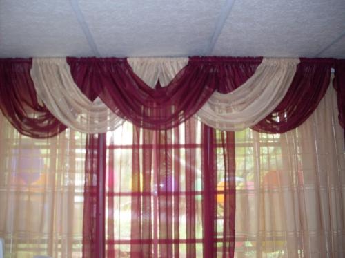 Imagen cortina con cenefa entrelazada - grupos.