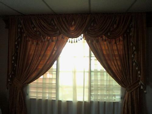 Imagen cortina con cenefas entrelazada - grupos.