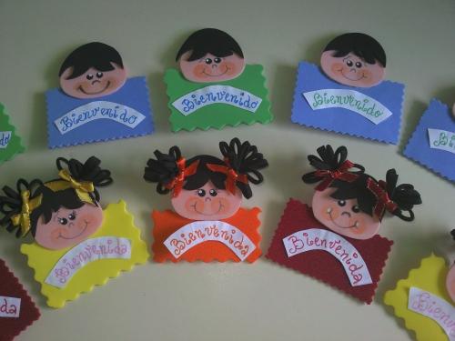 Distintivos en foamy para preescolar - Imagui