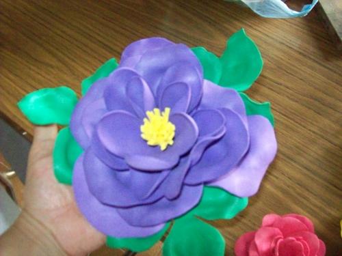 Como hacer flores en goma eva faciles imagui - Flor de goma eva ...