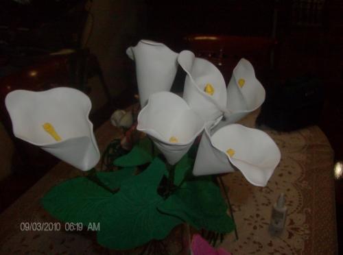 Flores en foami
