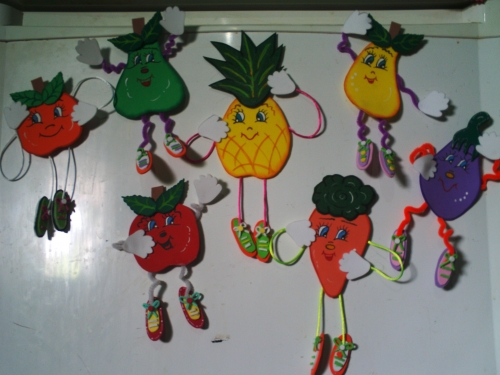 Figuras en foami para la nevera - Imagui