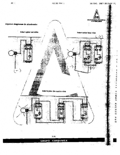 Interruptores de 2,3 y 4 vias