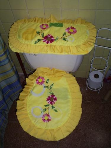 Juegos De Baño Liston:de Grupo de Labores y manualidades Juego de baño bordado en liston