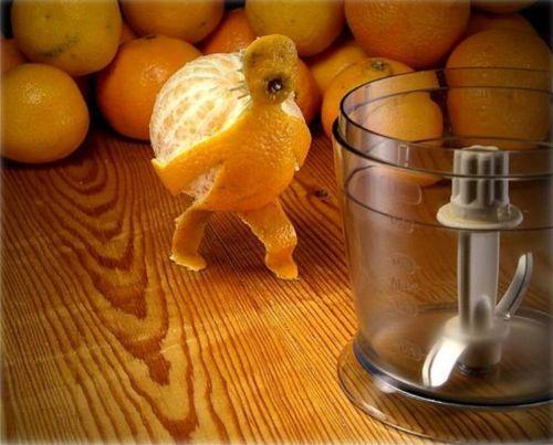 Linda presentación de la naranja