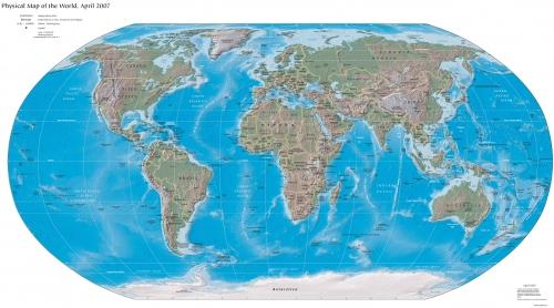 Mapa Fisico Mundial