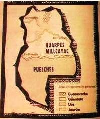 Mapa Mendoza- Huarpes y Puelches