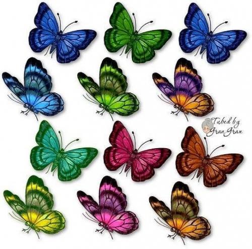 ... de Grupo de Decoupage > Mariposas para recortar