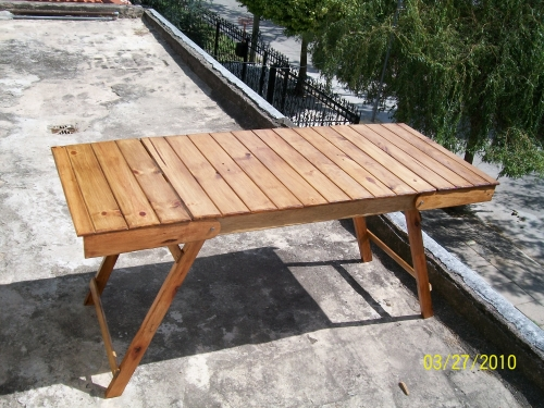 Mublesa s l for Mesa jardin madera plegable