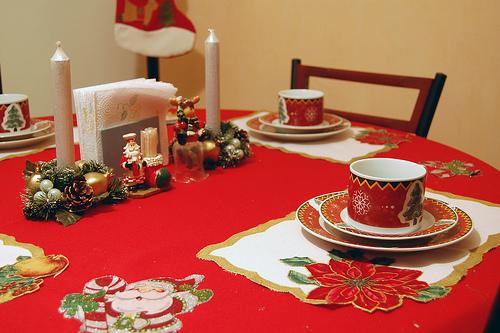 Imagen mesa y adornos de navidad - Decoracion adornos navidenos ...