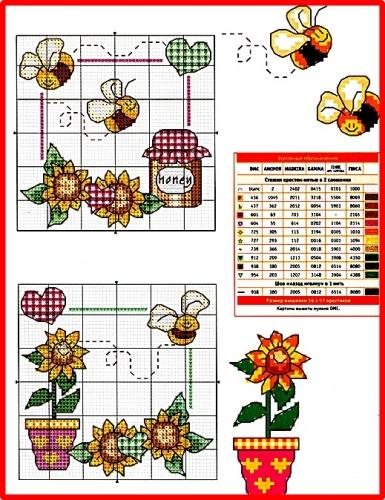 Схему вышивки крестом пчелка 31
