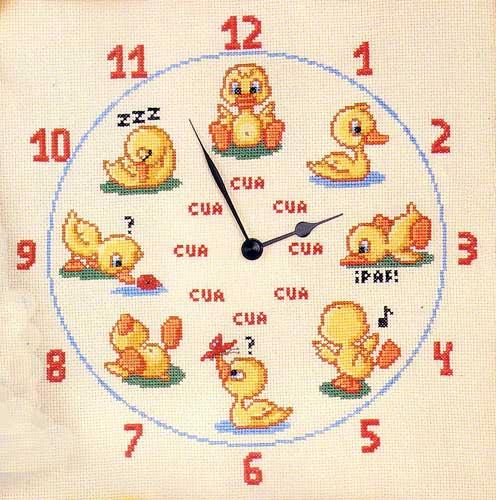 modelo de reloj de patitos
