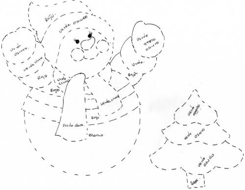 de Grupo de Manualidades para Navidad Pie de arbol de mono de nieve