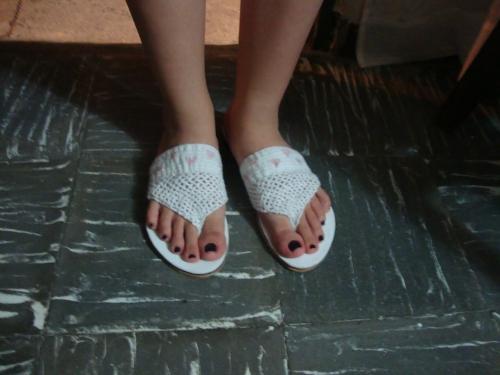 Sandalias tejidas a crochet - Imagui