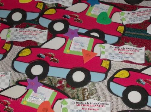 Imagen tarjeta de invitacion de foami cars - grupos.