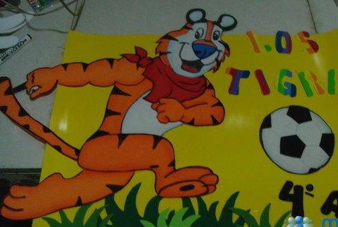 Imagen Tigre de Zucaritas en foami - grupos.