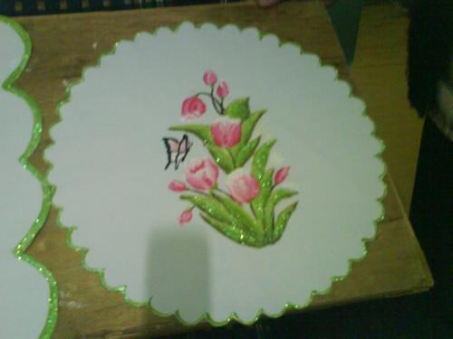 Dibujos Para Manteles Pintados Interesting Cmo Pintar Manteles With